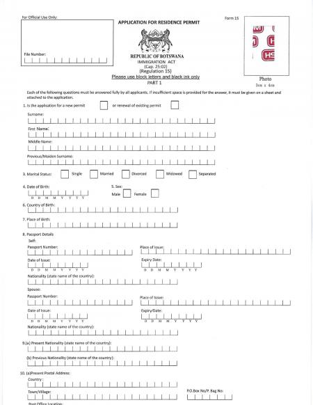 Residence_permit Sample Government License Application Letter on